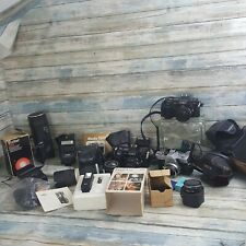 Vintage Minolta Film Camera Bodies, lenses, flashes, misc, AS IS Estate find