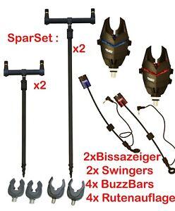 Bissanzeiger Set mit Buzzerbar + Ruten Halter Auflagen Kit 2 + 2