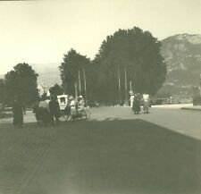 France Haute Savoie Lake Annecy Theater Place old Possemiers Stereo Photo 1920