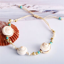 Boho Lady Natural Cowrie Shell Beads Chain Beach Foot Anklet Bracelet Jewelry