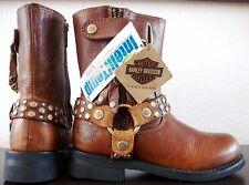 HARLEY DAVIDSON VADA Biker Boots Damen Stiefelette Stiefel Leder Bootie Gr37 NEU