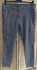 "M&S Collection Size 16 Regular Brushed Cotton Chinos Grey Slim Trousers 28"" Leg"