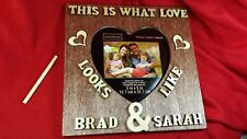 Amazing Wedding Day Personalized Picture Frame - Wood Table Frame Gifts