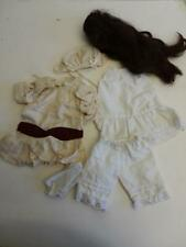 really old VINTAGE DOLL dolls clothes wig