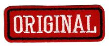 ah87 ORIGINAL Abzeichen Rot Aufnäher Bügelbild Patch Applikation 7,2 x 2,6 cm