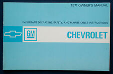 Owner's Manual * Betriebsanleitung 1971 Chevrolet Chevy Caprice * Impala (USA)