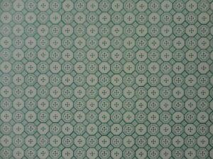 DOLLS HOUSE 1/12 SCALE WALLPAPER - J HERMES 'MERITAS' - CREAM & GREEN - 0115
