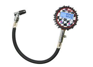 "STR Digital Tyre Pressure Gauge 2.5"" Angle Head 0-200 PSI Motorsport Oval, Rally"