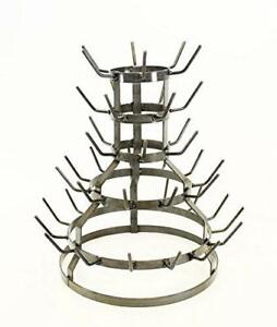 Small Wine Bottle Drying Rack,18.5 Inches H x 17 Inches W- Holds 44 Bottles.