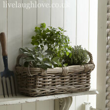 Lined Wicker Planter With Handles