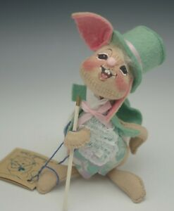 """ANNALEE MOBILITEE 1994 SPRING EASTER BUNNY MADE IN USA 7"""""""