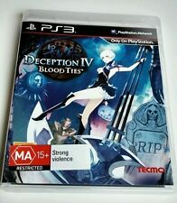 Deception IV 4 Blood Ties for PS3 NEW! PAL Version PlayStation 3 game for Aussie