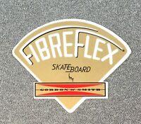 """Gordon & Smith G&S Fibreflex gold skateboard sticker Reissue 3.75"""" wide"""