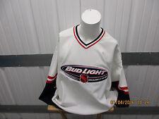 a56d673059f New listing VINTAGE BAUER X NHL BUDWEISER/BUD-LIGHT SEWN WHITE XL JERSEY PRE