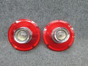 Pair of 1964 Ford Galaxie Tail Light Lamp Lens with Backup Lenses