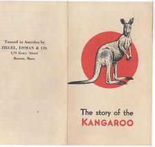 circa 1930 folder Kangaroo Leather Story; Ziegel, Eisman & Co.; Boston Shoe