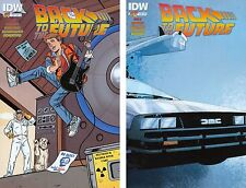 Back to the Future (IDW) 1 & 2 SUB CVR A Set NM 1st Print Marty McFly Doc Brown