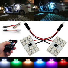 2pcs T10 Festoon 12SMD RGB LED Light Panel Interior Read Bulb Remote Control Kit