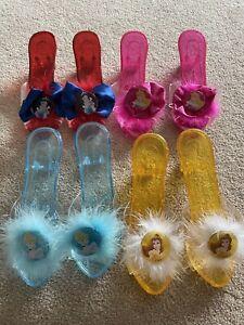 Disney Children Kids Dressing Up Princess Shoes 4 Pairs