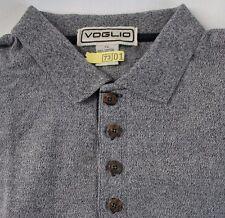 Mens Voglio Polo Shirt XL Short Sleeve Golf All Cotton Black Heather Jersey