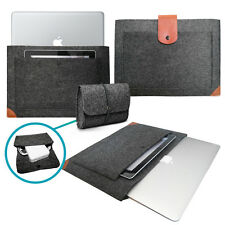 Felt Sleeve with Leather STRAP Cover & Case Bag for CHARGER for Apple MacBook