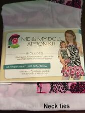 Creative Cuts Me And My Doll Apron Kit Zebra And Hearts Print Gift