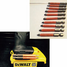 dewalt XR li ion Drill BIT HOLDER & torsion 10pc s2 non slip mixed bits