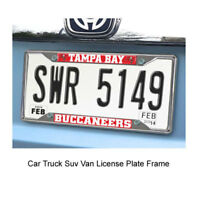 New FANMATS NFL Tampa Bay Buccaneers Car Truck Chrome Metal License Plate Frame