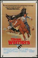 THREE WARRIORS ORIGINAL RANDY QUAID  1977 1 SHEET MOVIE POSTER 27 x 41 authentic