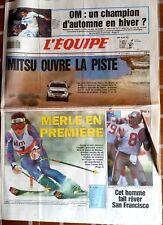 L'Equipe Journal 6/1/1993; OM-Lille/ Mitsu ouvre la piste/ Merle/ Steve Young