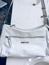 Ellen Tracy Handbag Amy East West Designer Hobo Purse Bag - Winter White $69