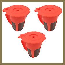 3 Keurig 2.0 Orange K Carafe Reusable Refillable K-Cups Coffee Filter