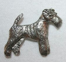 Wire Fox Terrier Dog Harris Fine PEWTER PIN Jewelry Art USA Made