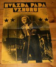 klein FILM Plakat,HVEZDA PADA  VZHURU,KARELL GOTT,MUSIK,CESKY