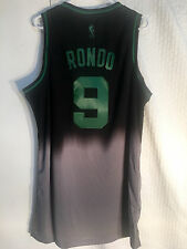 Adidas Swingman NBA Jersey BOSTON Celtics Rajon Rondo Black Fadeaway sz XL