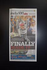 TONY KANAAN 2013 RARE INDIANAPOLIS 500 CHAMPION NEWSPAPER ORIGINAL COMPLETE