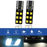 2PCS 12V 5000K 2835 12 SMD T10 LED White Car Bulb 194 168 W5W Side Wedge Light