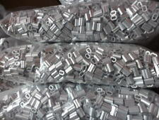 1000PCS 1.5mm ALUMINUM CABLE DOUBLE FERRULES CABLE STOPS SNARE WIRE SWAGE TRAP