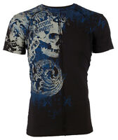 Xtreme Couture AFFLICTION Mens T-Shirt PLASTERED Skull Tattoo Biker MMA $40