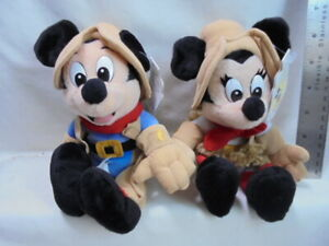 "Walt Disney World Frontierland Cowboy Mickey & Minnie Mouse Bean Bag 8"" Plush"