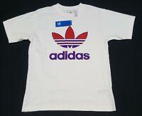 Adidas Men's Short-Sleeve Trefoil Logo Graphic T-Shirt White GL5130