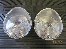 1969 Chevy Camaro SS RS Z-28 NEW Standard Clear Front Parking Light Lens Set (2)