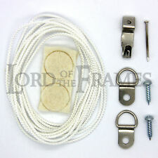 SMALL PICTURE FRAME HANGING KIT Cord D-Rings Hooks & Fixings