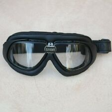 Gafas/Googles/Brille Bandit simil cuero negro con cristales transparentes