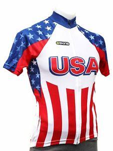 Skins Team USA Short Sleeve Cycling Jersey Men XS MEDIUM LARGE XL Road Bike Race
