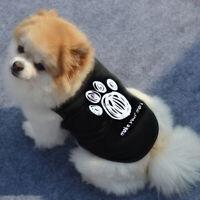 KM_ FT- FT- Cat Small Dog Puppy Leisure Letters Vest T Shirt Coat Pet Clothes