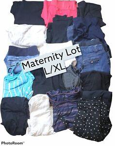 Maternity lot mix pants tops skirts shorts dresses Liz Lange &  Old Navy L/XL.