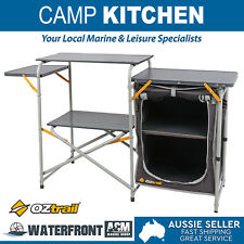 Oztrail Camp Kitchen Table Camping Portable Folding Pantry Cupboard Storage Bag