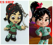 US! 3D Wreck-It Ralph 2 Vanellope Keychain Key Rings Gifts Collection Cosplay