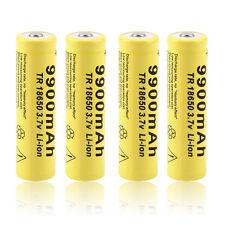 4pcs 3.7V 18650 9900mah Li-ion Rechargeable Battery For LED Flashlight Torch DE
